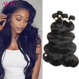 2019 trame de cheveux bohème 9A Grade vison Malaisiens Péruvienne Brésilienne cheveux 4 faisceaux corps vague pas cher cheveux tisse extensions vente 100G / Bundles ALOT