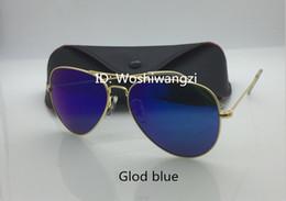 óculos de sol laranja para homem Desconto Alta qualidade homens mulheres designer piloto óculos de sol óculos de sol de ouro flash orange espelho lentes de vidro 58mm caixa de proteção UV casos