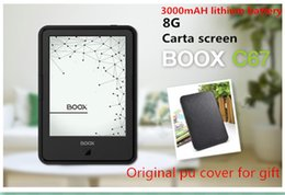 Wholesale Ebook E Ink - Wholesale- Eredaer ONYX BOOX C67ML carta 3000mAh e-book touch screen Android 4.22 8G Wi-Fi E-ink Front Glowlight ebook reader +PU cover