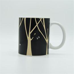 Wholesale Temperature Changing Coffee Mugs - Magic Color-Changing Cup Animal World Ceramic Coffee Mug Heat Cold Temperature Sensitive Tea Milk Cup Fancy Life