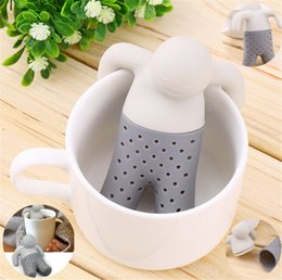 Wholesale Resistance Stock - New Teapot Originality cute Tea tools Strainer High Temperature Resistance Silicon Tool Infuser Tea Strainer IA550