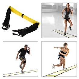 Wholesale Equipment For Football - Durable 9 rung 16.5 Feet 5M Agility Ladder for Soccer and Football Speed Training With Carry Bag Fitness Equipment