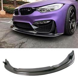 Wholesale Bmw M3 Spoiler - E Style Carbon fiber Front Lip Spoiler Fit For BMW F80 M3 F82 F83 M4 Model