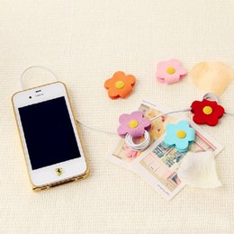 Wholesale Cheap Headphones For Pc - flower earphone cable winder headphone cable keeper for cell phones ipad laptop PC Flowere Daisy shape cable holders wholesale cheap price