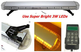 Wholesale Super Bright Blue Led Strobe - Free shipping super bright 3 Watt leds lightbar full size lightbar tow led light bar truck warning lightbar