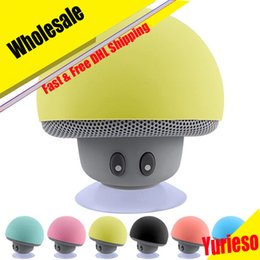 Wholesale Edge Speakers - Mushroom Mini Wireless Bluetooth Speaker Hands Free Sucker Cup Audio Receiver Music Stereo Subwoofer USB For Android IOS PC for s7 edge