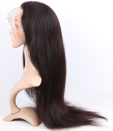 Wholesale Human Hair Wigs Malaysia - 9A Malaysia Full Lace Human Hair Wigs For Black Woman Silky Straight Glueless Full Lace Wigs Lace Front Virgin Human Hair Wigs
