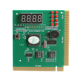 Wholesale Computer Diagnostic - 4 Digit LCD Display PC Analyzer Diagnostic Card Motherboard Post Tester Computer Analysis PCI Card Networking Tools High Quality
