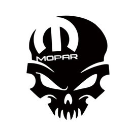Wholesale jdm car accessories - Hot Sale For Mopar Skull Vinyl Decal Sticker Graphic Window Car Styling Accessories Graphics Jdm