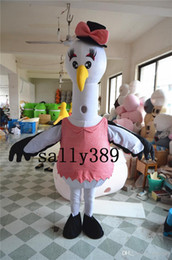 Wholesale Bird Fancy Dress - 2017 Egret bird boy mascot High quality cartoon costume fancy dress adult suit fancy dress party carnival parade Free postage