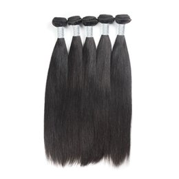 Wholesale Top Piece Hair Extensions Wholesale - Brazilian Straight Extension Uglam Hair Product Top Grade 5 Pcs lot Super soft Brazilian Virgin Hair Weaves Free Shipping Factory Price