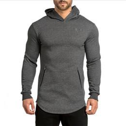 Wholesale Man Zip Slim - Wholesale-New Arrival Free Shipping Fashion Men's Long Black Hoodies Sweatshirts Feece With Side Zip Longline Hip Hop Streetwear Shirt