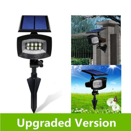 Wholesale Long Led Lamp - Super Bright 8 LED Solar Wall lamp solar Panel Spotlight 2 in 1 Installation Long Working Battery Adjustable Light,Waterproof Lawn Land soot