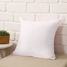 Wholesale Silver Cushions Covers - 1 Pcs 45 *45cm Home Sofa Throw Pillowcase Pure Color Polyester White Pillow Cover Cushion Cover Pillow Case Blank Christmas Decor Gift