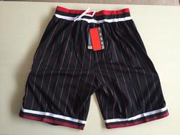 Wholesale Men S Sweatpants Xl - Red White Black stripe Basketball Shorts Men's Shorts New Breathable Sweatpants Teams Classic Sportswear Basketball Pant