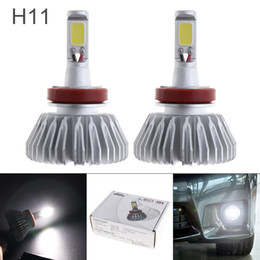 Wholesale Led Bulbs For Cars Headlights - 2pcs All In One H11 12V 40W LED Headlight 6000LM White 6000K Conversion Bulb Vehicle DRL Light for Cars CLT_60L