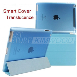 Wholesale transparent ipad air smart case - Smart Cover for iPad Mini 2 3 4 Ultral Slim PU Leather Stand Case iPad Pro iPad Air 2 Folding Transparent Clear Covers