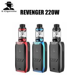 Wholesale E Cigarettes 5ml - 100% Authentic Vaporesso Revenger 220W Kit With 5ml NRG Tank E Cigarette Starter Kit Free Shipping