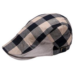 Wholesale Ivy Newsboy Golf Hats - Wholesale-Hot New Men Women Checked Duckbill Ivy Cap Golf Driving Flat Cabbie Newsboy Beret Hat 2016