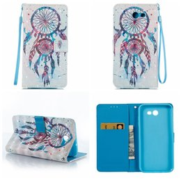 Wholesale Lace For Cards - Wallet Leather Lace Wood Flower For Iphone 8 7 6 Galaxy S8 Plus (J7 J5 J3 A5 A3)2017 Love Butterfly Butterfly Card Slot Flip Cover+Strap