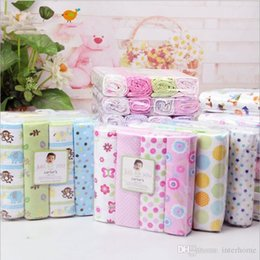 Wholesale Flannel Sheets - Kids Bedding Sheets Owl Print Dot Flower Bed Sheets Sleeping Sheets Cotton Bedsheet Flannel Blankets Baby Beding Blanket Bedclothes A1127