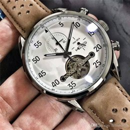 Wholesale Th Leather - TH Luxury Brand New Listing! Mens Watch Top mechanical movement watch factory price