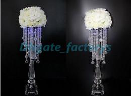 Wholesale Flower Vases For Weddings - Wholesale Crystal flower vase Flower stand for table, Flower vase for wedding decoration centerpieces