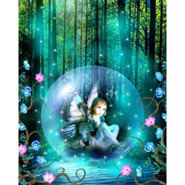 Wholesale Angels Home Decor - Little Angel Dream World 100% Full Drill DIY Diamond Painting 5D Diamond Mosaic Cross Stitch Embroidery Home Decor Gifts (Free Shipping)
