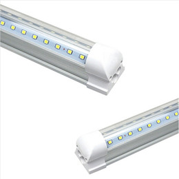 Wholesale Led Light 8ft 42w - T8 V-Shaped Led Tube Lights 4FT 28W 5FT 34W 6FT 42W 8FT 65W 2.4m Integrated Cooler Door Led Fluorescent tube light Double Glow lighting