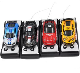 Wholesale Racer Cars - Mini-Racer Remote Control Car Coke Can Car Mini RC Radio Remote Control Micro Racing 1:64 Car children toy Gift