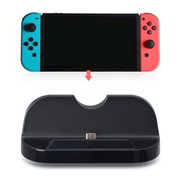 Wholesale Charger Nintendo - 2017 New 2 In 1 Charge Dock Station For Nintendo Switch Holder Bracket Charger Charge Stand For Nintendo Switch Accessories