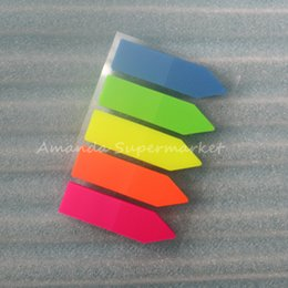 Wholesale Page Marker Post - Wholesale- 10 sets Novelty Note Paper Sticky Adhesive Post Highlighter Index Tab Flags Neon Page Marker School Memo Papers Pads