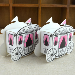 Wholesale Baby Pumpkin Carriage - Wholesale- 100pcs lot Romantic Fairy tale Favors Gifts Baby Shower Wedding Candy Box Cinderella Pumpkin Carriage wedding decoration mariage