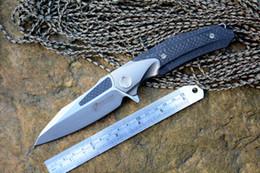 kalten stahl oem Rabatt Kevin John VENOM Messer ATTACKER M390 Klinge Messer Titan Kohlefaser Griff Jagd Survival Outdoor Messer Werkzeuge