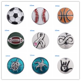 Wholesale Small Metal Hooks - Partnerbeads Interchangeable Jewelry Accessory 12mm Small Metal Snap Button Ginger Snaps Crystal Ginger Snap Jewelry Free Shipping KS5054-S