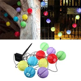 Wholesale Indoor Garden Party Decorations - 10leds  set 500 LED Solar Lanterns Solar Powered Garden String Light Lamp Wedding Party Holiday Decoration White Colorful Christmas Lights