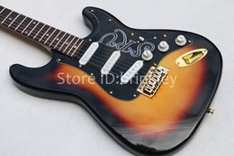 Wholesale Electric Guitars Srv - Rare Guitar 10S Custom Shop Masterbuilt Limited Edition Stevie Ray Vaughan Tribute SRV Number One sunset Electric Guitar Brown