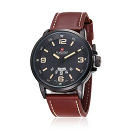 Wholesale Dual Time Zone - NAVIFORCE 9028 brand men's wristwatch, Sport dual display GMT Digital LED reloj hombre Army Military watch relogio masculino