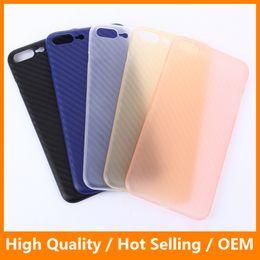 Wholesale Iphone Carbon White - For Apple iPhone 7 7 Plus Case Soft PP Back Cover Carbon Fiber Black Phone Case for iPhone 6 6s 6s Plus