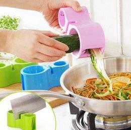 Wholesale Wholesale Vegetable Spiral - High Quality Vegetable Spiralizer Vegetable Noodle Cutter Zucchini Noodle Pasta Spaghetti Spirals Maker Julienne Cutter Peeler CCA6394 48pcs
