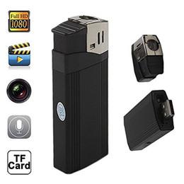Wholesale Spy Camera Real Lighter - 1080P Real Lighter Camera Spy Hidden Lighter DVR Highlighted Flashlight Security Camera Support 32GB TF Card