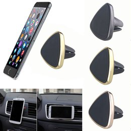 Wholesale gps for cell - Universal Magnetic Car Air Vent Holder Mount Cradle Stand For Cell Phone GPS Air Vent Cradle Stand 360 Rotation Mount Holder PCB0015