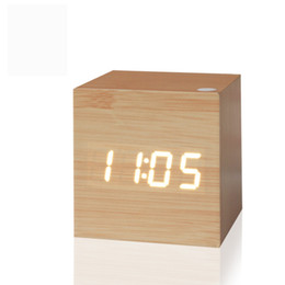 Wholesale Small Square Clock - Wholesale-2016 Antique office clock Digital clock LED Retro table personalized brief art clock silent watch gift small electronic clock