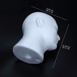 Wholesale Head Hat Stand - Styrofoam Male Female Head Stand Model Display Wig Hats Holder Glasses Foam Mannequin Model Show good quality