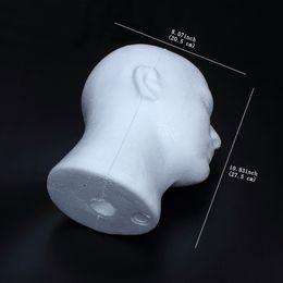 Wholesale Female Styrofoam Wig Head - Styrofoam Male Female Head Stand Model Display Wig Hats Holder Glasses Foam Mannequin Model Show good quality