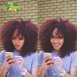 Wholesale Deep Wave Full Head Weave - 6pcs full head Cheap red Brazilian hair weaves 99J deep curly 100g 6pcs bundle 7a burgundy curly human hair extension unprocessed human hair