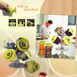 Wholesale Product Trees - High-quality Fashion New Products Creative Tree Shaped Pop-up Spice Rack With 6 Spice Container Kitchen Tools