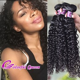 Wholesale Extension Human Hair Micro - Crochet braid Brazilian Kinky Curly Human Hair Weft 3 Bundles 100% Brazilian Curly Human Hair Extensions Afro Kinky Curly for Micro Braiding