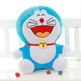 Wholesale Japanese Child Dolls - 50cm 65cm Big Mouth Laugh Face Grin Doraemon Cat Plush Toy Stuffed Animal Doll Kids Child Japanese Cartoon Movie Good Quality