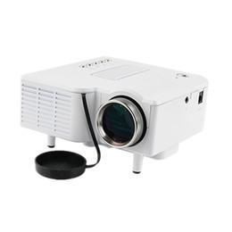 Video player de entrada on-line-Atacado-UNIC UC28 + Mini LEVOU Projetor Digital Video Game Projetor Multimídia Player Entradas AV VGA USB SD HDMI Projetor Alto-Falante Embutido